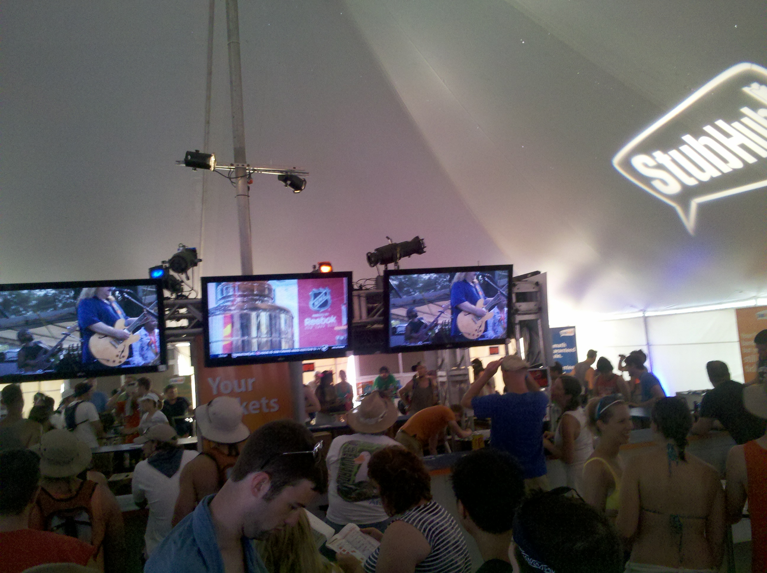 Bonnaroo Random Sight #78: The Air Conditioned Bar Sponsored by StubHub