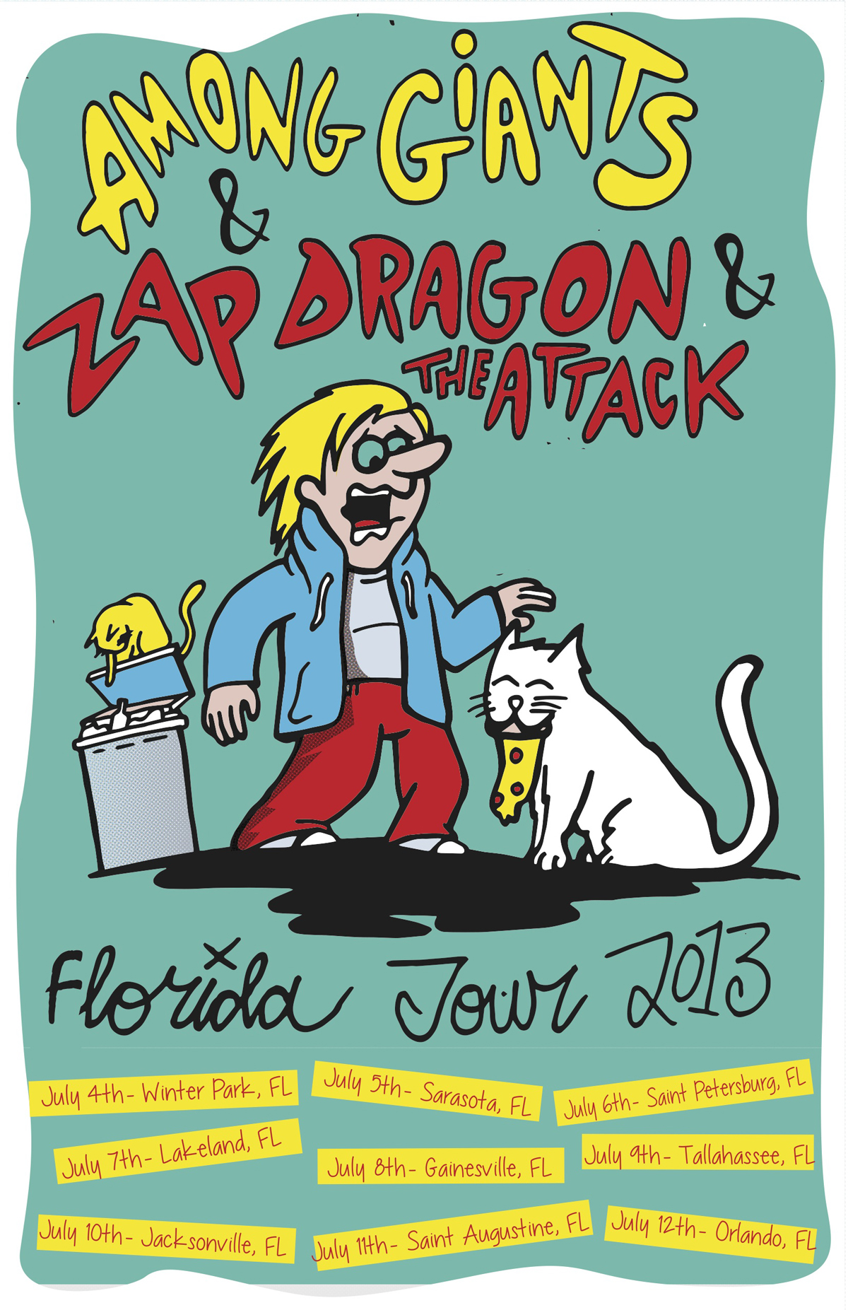 summer tour poster- with zap dragon