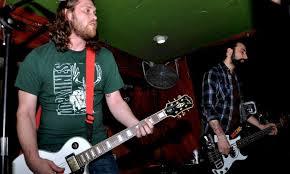 Josh Goldman of Rad Girlfriend Records plays with Iron Chic