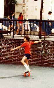 Timo Ellis skating in the '80s