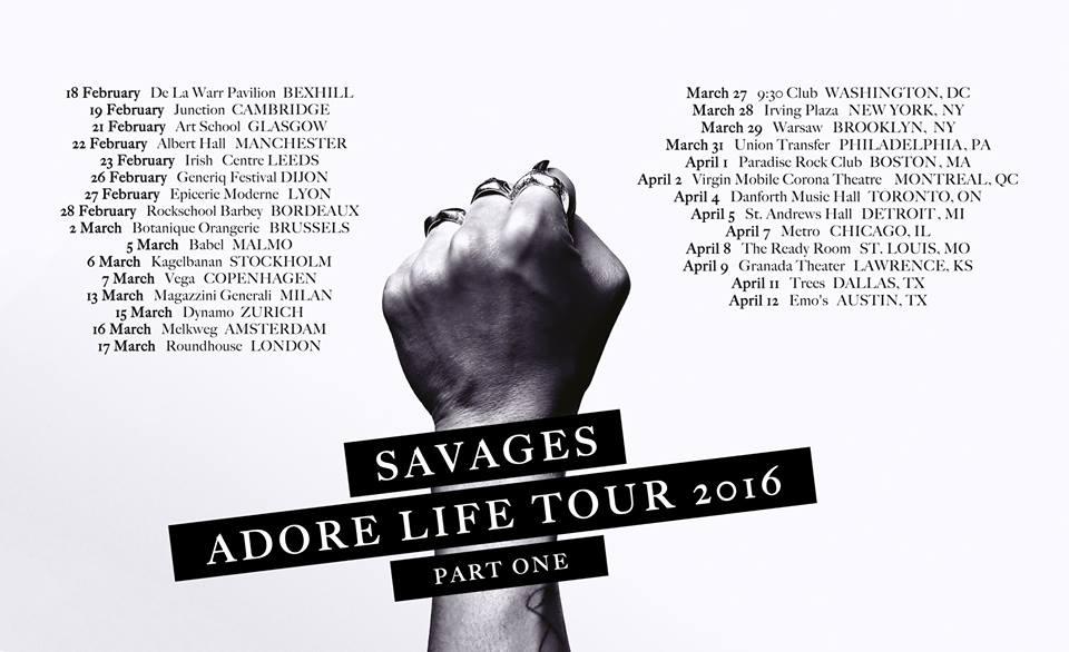 Savages Tour