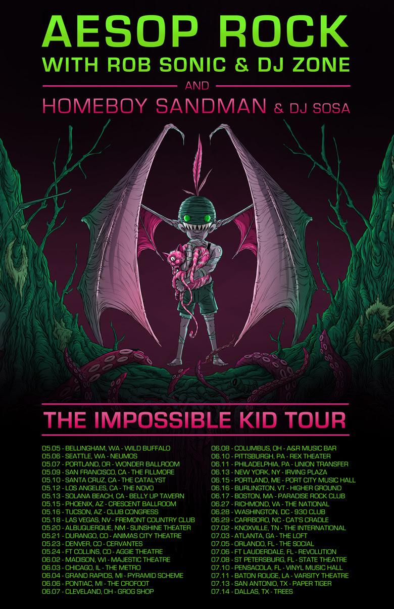 Aesop Rock Tour